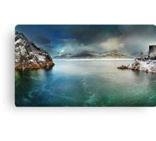 Vidraru lake in the winter, Romania Canvas Print