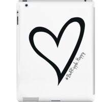 #BeARipple...Happy Black Heart on White iPad Case/Skin