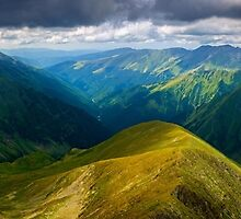 Romanian mountains panorama by naturalis