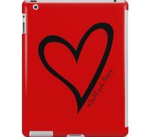 #BeARipple...Happy Black Heart on Red iPad Case/Skin