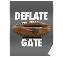 DEFLATE GATE New England Patriots  Poster