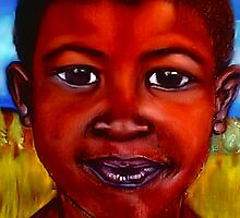 (Pastel Portrait - Rasta) South African Boy by Mariaan M Krog Fine Art Portfolio