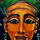 NEFERTITI - MYSTERIOUS & POWERFUL by Mariaan Maritz Krog Fine Art Portfolio