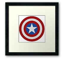 Simple 2D Captain America Shield Framed Print