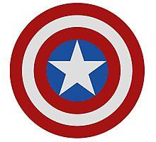Simple 2D Captain America Shield Photographic Print