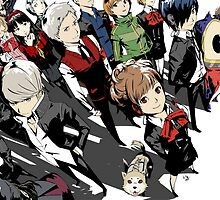 Persona 3 and 4 by BIGSAUCE