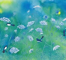 willy wag tails among the queen anne lace by vian