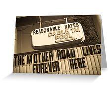 Route 66. Munger Moss Motel. Lebanon. Missouri. USA. Greeting Card