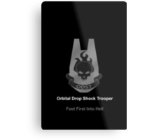 Halo O.D.S.T Feet First Into Hell Metal Print
