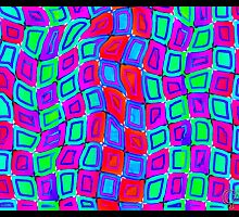 Tumblr 30 by CAP - ITS ALIVE! Moving Optical Illusion Psychedelic Design by capartwork