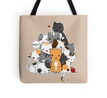 Meowntain of cats Tote Bag