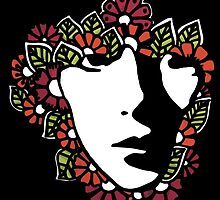 Woman in Flowers by XENJA DESIGN