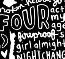 One Direction Four Collage Sticker