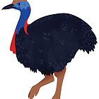 Cute Cassowary  by Claire Stamper
