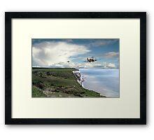 Spitfires Over Dover  Framed Print