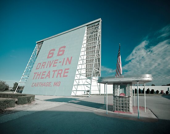 Route 66. Drive-in Cinema. Carthage. by Alan Copson
