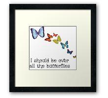 Paramore - Butterflies Framed Print