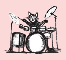 Drummer Cat Kids Clothes