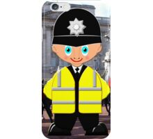 """A London Bobby (No 18 in the """"Toon Boy"""" series) at Buckingham Palace iPhone Case/Skin"""