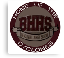 Beacon Hills Cyclones Canvas Print