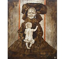 The old woman with the baby Photographic Print