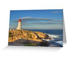 Peggy's Cove Lighthouse - Nova Scotia, Canada Greeting Card