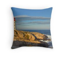 Peggy's Cove Lighthouse - Nova Scotia, Canada Throw Pillow