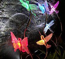Sprinkle Lights in a Grotto Display by SprinkleLights