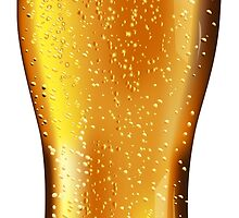 Beer glass with water drops by AnnArtshock