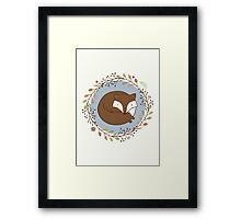 Dreaming Fox Framed Print