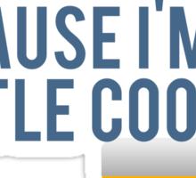 Don't Be Jealous I'm A Little Cooler. Sticker