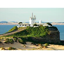 Newcastle Harbour - Nobby's Lighthouse Photographic Print