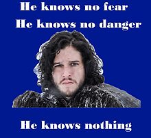 He knows nothing by hannahdethier