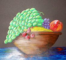 Bowl Of Fruit by Sandy Wager