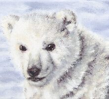 Baby Polar Bear by LeftHandPrints