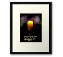 The Light Of The World (second version) Framed Print