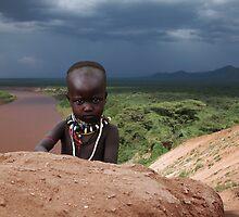 KARO BABY - ETHIOPIA by Michael Sheridan