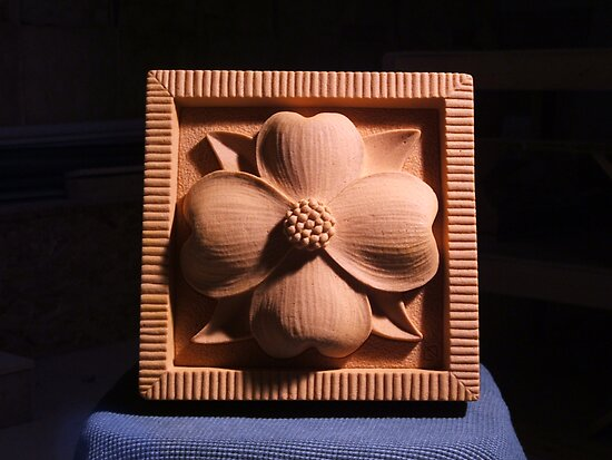 Small Dogwood Medallion by gabe drueke