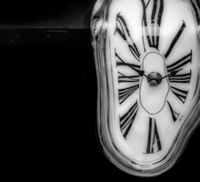 Salvador Dali Inspired Melting Clock Sticker