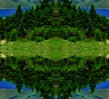 Evinos in reflection Sticker
