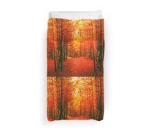 Red and Orange Autumn II Duvet Cover