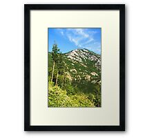 Lean In - A Mountain Lake Impression Framed Print