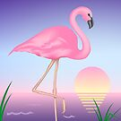 Pink Flamingo by lydiasart