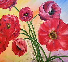 Poppies in a jar by Ela Ladwig