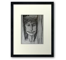 Roxanne - A Portrait Drawing Framed Print