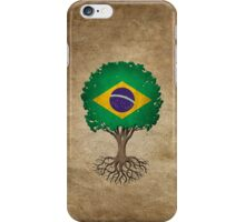 Tree of Life with Brazilian Flag iPhone Case/Skin