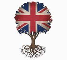 Tree of Life with British Flag Kids Clothes