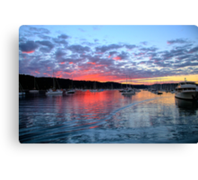 Fire in the Sky - Newport - Sydney Beaches - The HDR Series Canvas Print