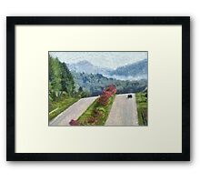 Ride On Into Franklin On The Merle Dryman Parkway Framed Print