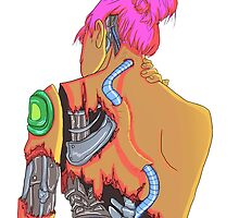 Cybergirl vibrant  by Hilolinor